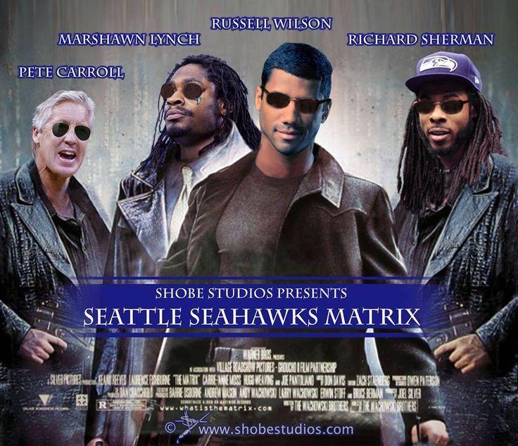 Freakin' Cool!!! Seattle Seahawks Matrix. #GoHawks #SeahawksSB50