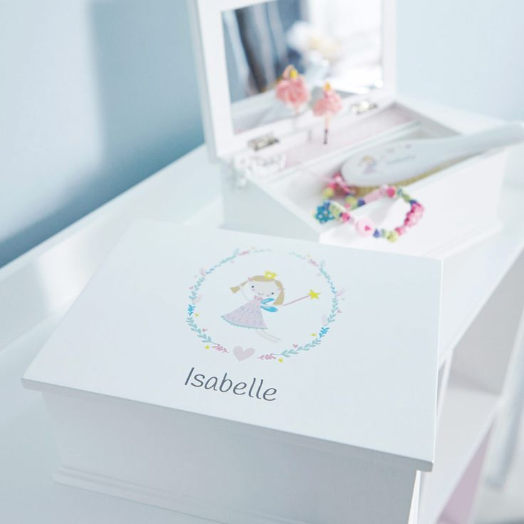 Personalised Musical Jewellery Box - Daisy Fairy - Dressing Table Accessories - Furniture