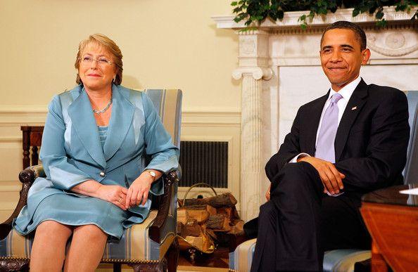 Michelle Bachelet y Obama