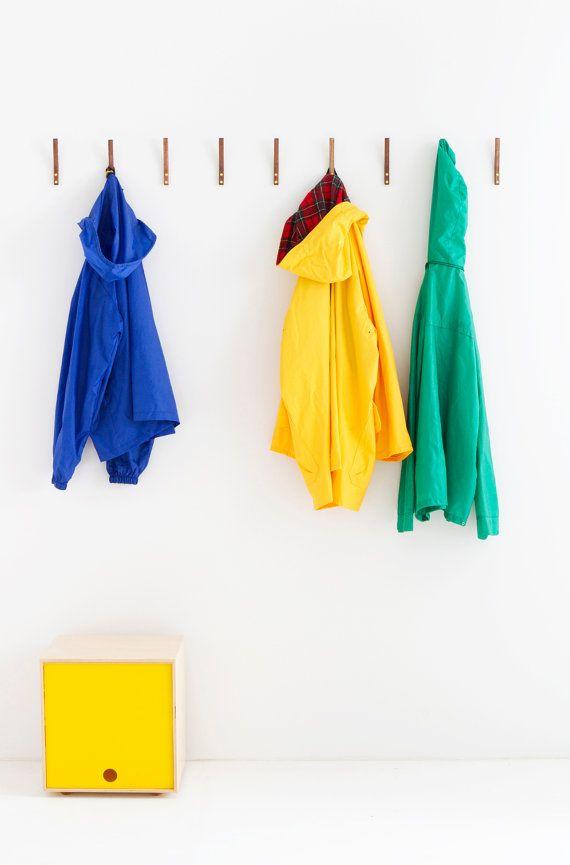 Walnut Coat Hook  Simple Minimal Modern