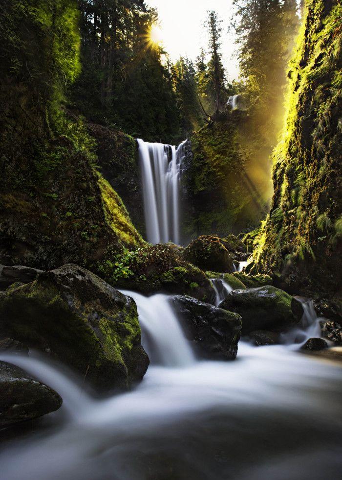 Waterfalls Fall Creek Falls, State Resort Park, Spencer, TN, USA