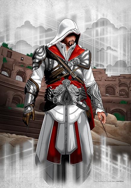 """Ezio Auditore Da Firenze (Roma 1499)"" Assassin's Creed © Ubisoft"