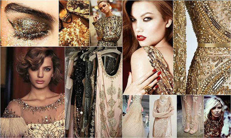 Золотой цвет в макияже и одежде | Gold in make-up and clothing #makeup #clothing #cloth #gold