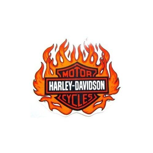 Harley Davidson Logo With Blue Flames