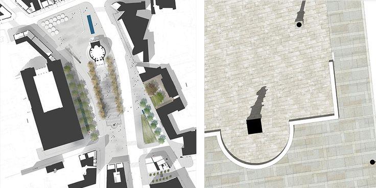 ZAGOSPODAROWANIE PLACU TRZECH KRZYŻYREVITALIZATION OF PLAC TRZECH KRZYŻY IN WARSAW, POLANDWYR�ŻNIENIE HONOROWE, otwarty konkurs urbanistyczny, Warszawa, 2010Projekt postuluje uporz�dkowanie przestrzeni placu poprzez stworzenie dwoch sprz�żonych ko�cio�em trojk�tnych wn�trz miejskich, każde o innym charakterze. W tym celu zaprojektowano dziel�c� plac ?zielon� naw�? pomi�dzy wej�ciem g�ównym do ko�cio�a a zespo�em figury �w....