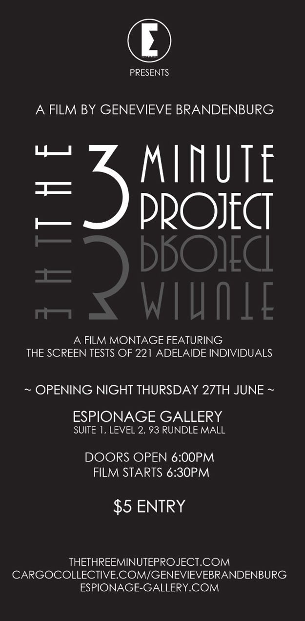 The Three Minute Project at Espionage Gallery