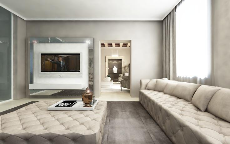 Tv Room In Palce At Verona Designed By Andrea Bonini