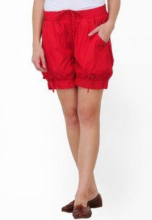 Stylish, Comfort & Well Designed Dazzgear Solid Red Shorts women features product specifications, reviews, ratings, images, price chart and more to assist the user