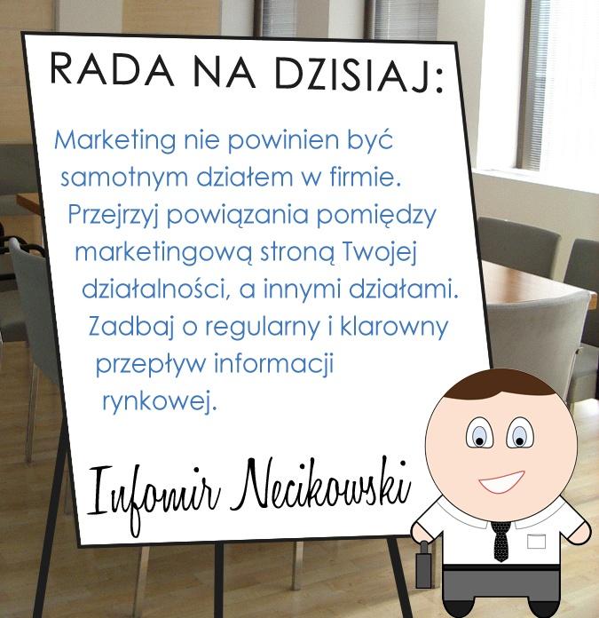 Pierwsza z cyklu porad Infomira Necikowskiego na Facebook - nasz specjalista doradza, jak ulepszyć marketing w firmie.