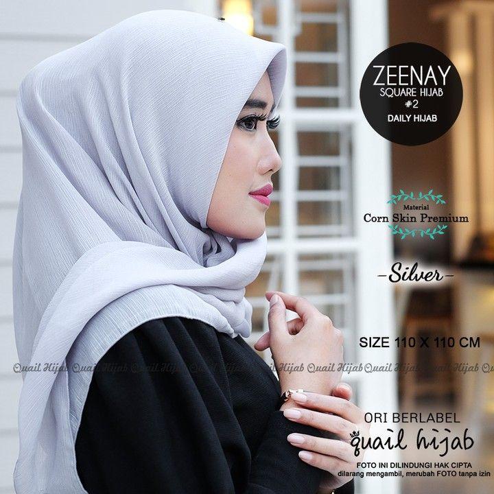 Zeenay 2 Silver By Quail Hijab Bahan Corn Skin Premium Harga 58rb Cantikkan Harimu Dengan Produk Original Dari Quail Hijab Mau Harg Ootd Hijab Hijab Ootd