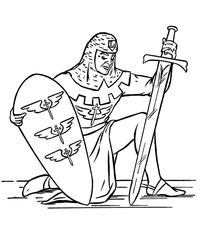 bluebonkers medieval knights in armor coloring sheets medieval knight kneeling free printable knights kings queens coloring pages - Medieval Coloring Pages Printable