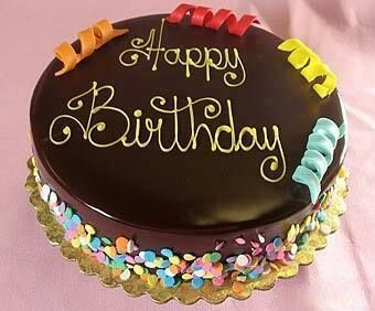 Happy Birthday - chocolate cake