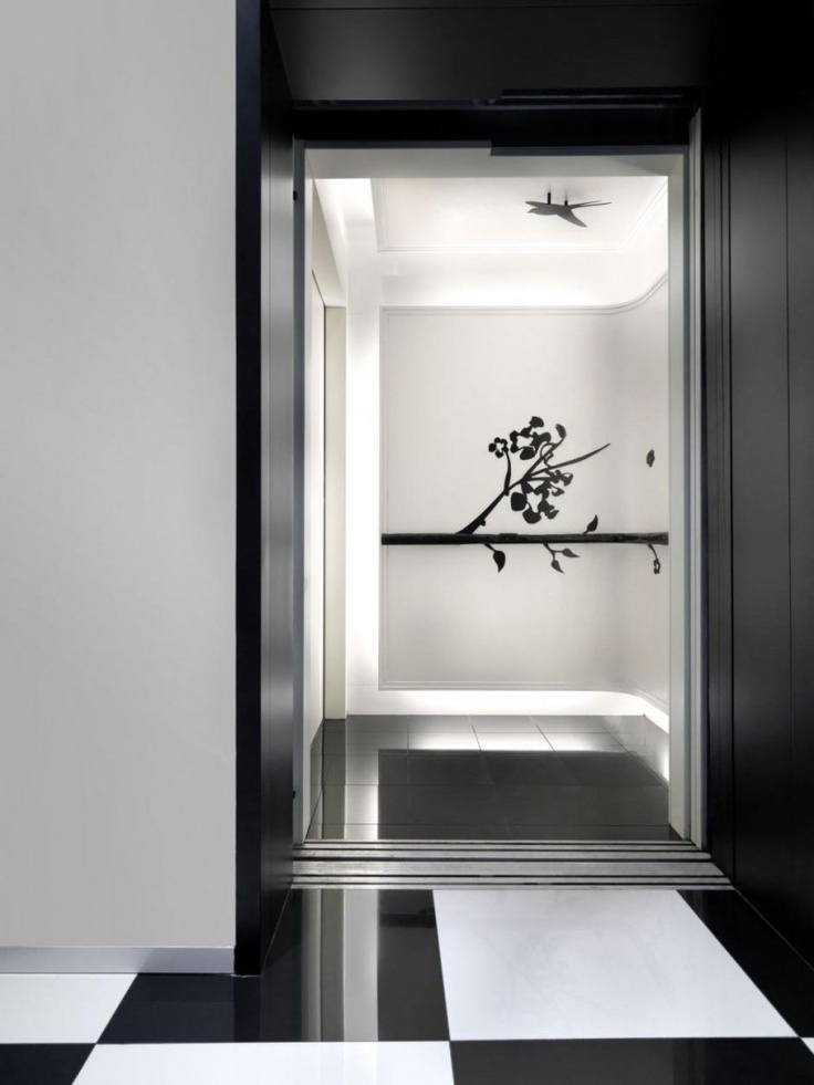 Black And White Interior Of The Club Hotel By Ministry Of Design: Green And  Black