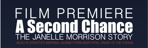 """Join us for the world premiere of """"A Second Chance - The Janelle Morrison Story"""". A documentary 2 years in the making, following the remarkable and inspiring story of Janelle Morrison who was almost killed in a head on car collision in 2010 and came back to finish 3rd at Ironman Canada in 2012.     This amazing story of strength, determination and will is a must to see!     RSVP and get tickets at http://theskoop.ca/events/50871432d87c1a7ff600cff0#"""