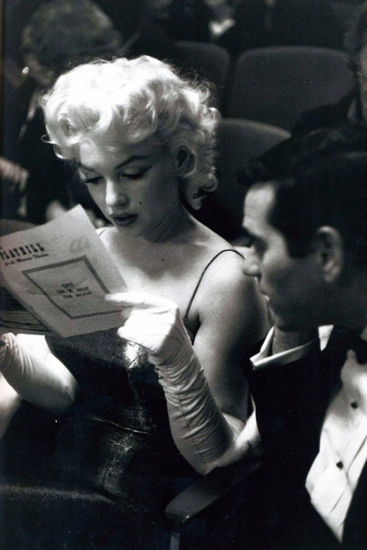 Marilyn Monroe attending Tennessee William's Cat on a Hot Tin Roof