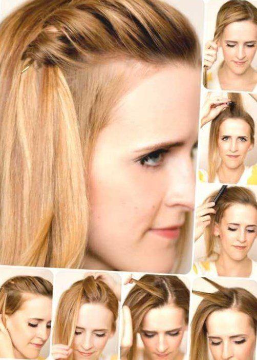 How to Hair Tutorial - Orange Haare flechten und hochstecken Anleitung zur Weihnachtsparty