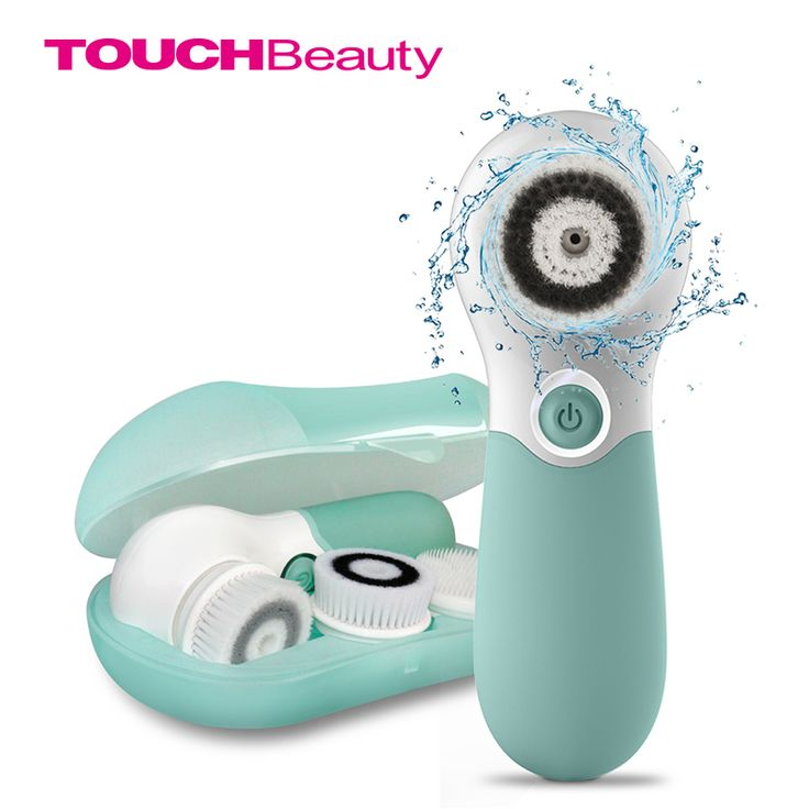 TOUCHBeauty Waterproof Facial Brush Deep Cleansing Set with 3 Different Spin Brush Head,two speed face cleansing device TB-14838 #Affiliate