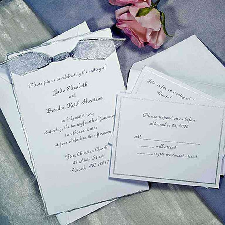 muslim wedding card invitation quotes%0A Silver Deckled Printable Invitations Kitperfect for wedding with a silver  theme