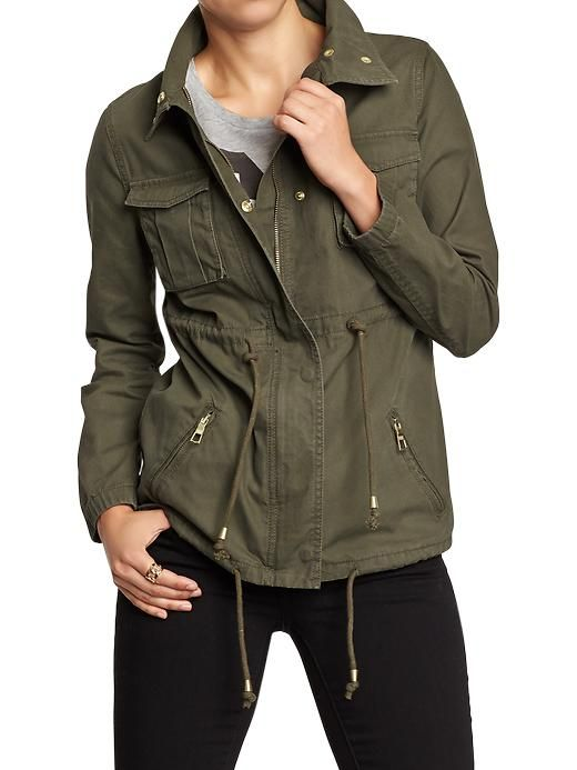 44 94 Old Navy Womens Canvas Field Jackets Coniferous