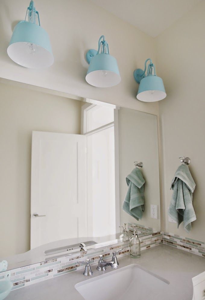 these are fun alternative lights for over the Guest Bathroom ... House of Turquoise: Four Chairs Furniture