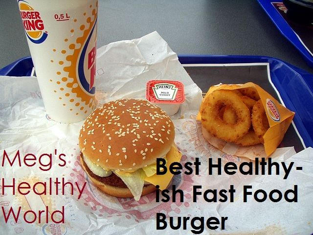 When I got stuck in town one day, I turned to fast food with no other options available and I found THIS!