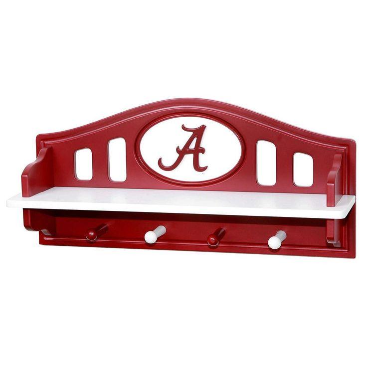 Alabama Crimson Tide Wooden Shelf, Multicolor