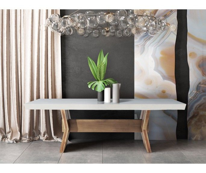 Astoria White Concrete Table Concrete Top Dining Table Concrete