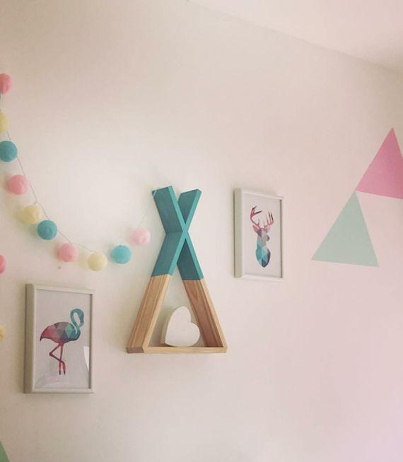 מדף עץ/ מדף טיפי/ מדף לחדר ילדים/ מדף מעוצב | My Ideal Home - הבית האידיאלי | מרמלדה מרקט