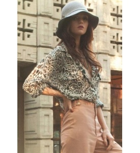 Lovers Friends Leopard Boyfriend Blouse 15