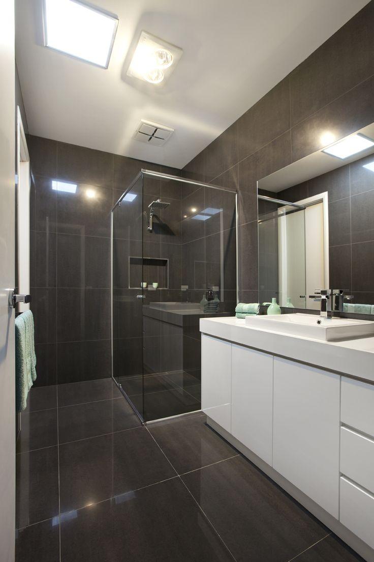 600x600 polished charcoal tiles, look amazing!