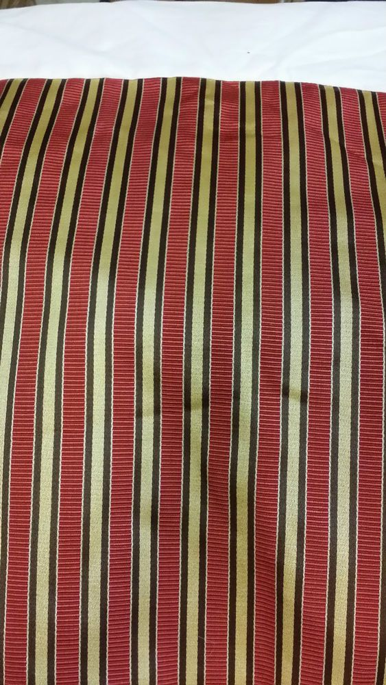 Mystic Valley Traders Colefax Rust, Gold, Brown, Satin Stripe Bed Skirt-King-NEW #MysticValleyTraders