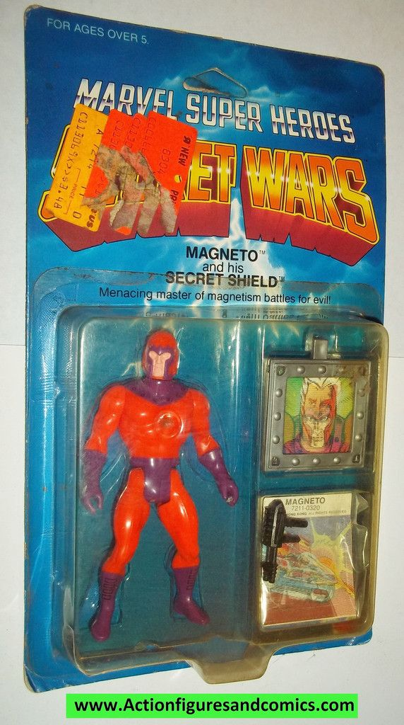 Mattel Toys: marvel super heroes SECRET WARS vintage action figures 1984 MAGNETO Still factory sealed in the original package Condition: Package shows some shelf wear, mainly a few price stickers. the
