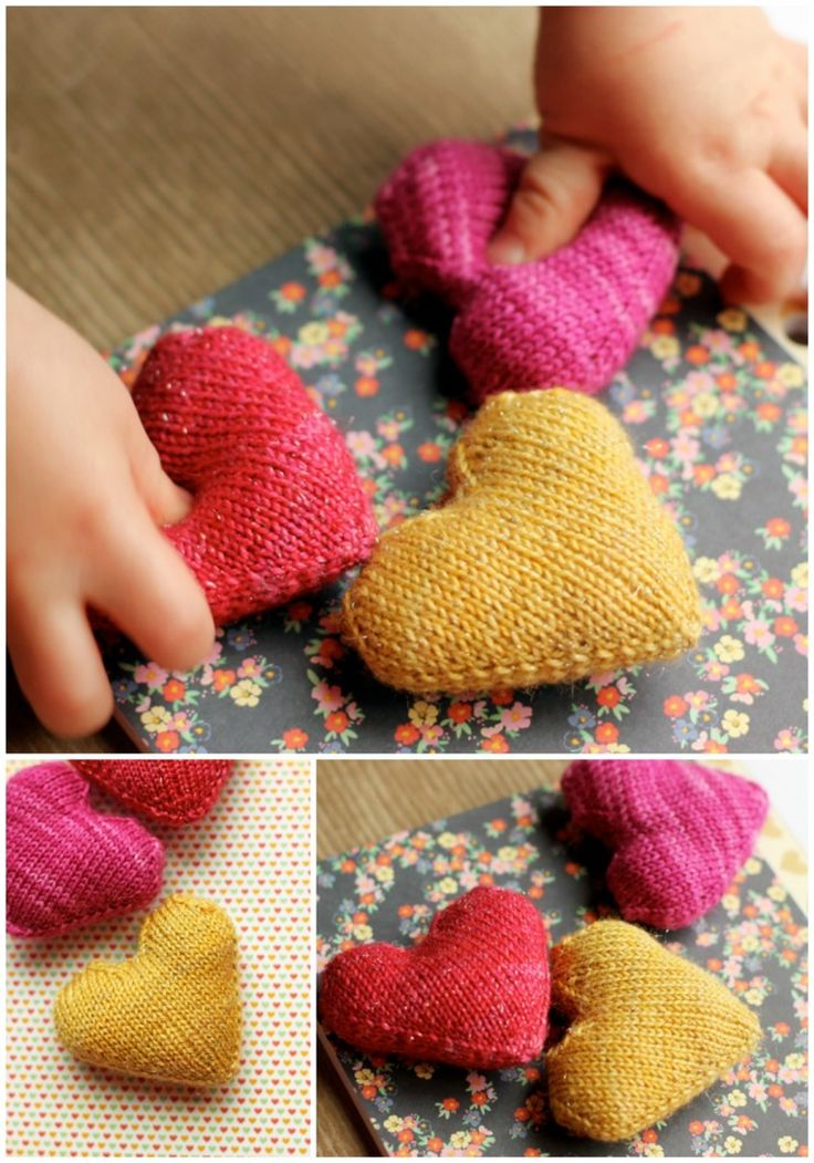 "Free pattern: ""Love you forever"" knitted hearts — Tanis Fiber Arts blog"