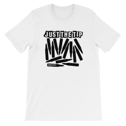 """Just the tip"" SEND IT! Unisex short sleeve t-shirt"