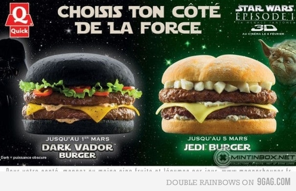 Star Wars Burger, I want each one