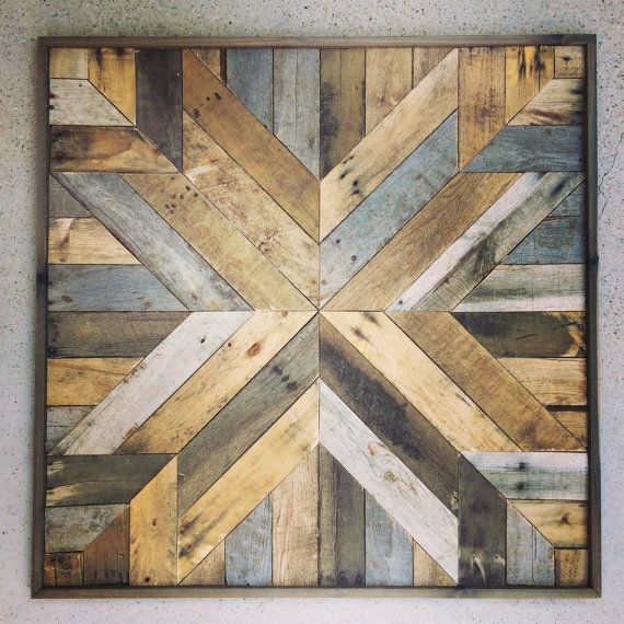 This listing is for one oversized handcrafted piece. Bring the warmth and character of reclaimed barn-wood into your home. This unique art piece