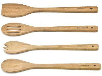 Jogo de Talheres Em Bamboo 4 peças Tramontina