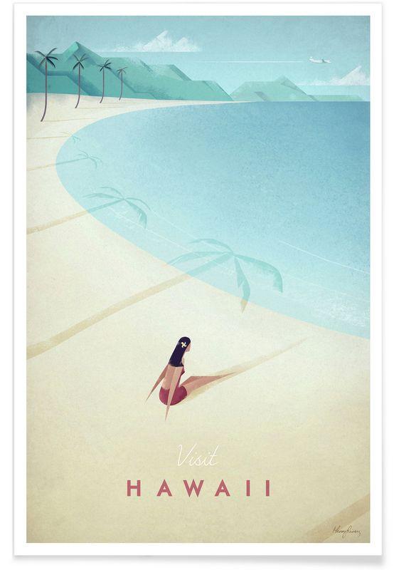 Hawaii - Henry Rivers - Affiche premium