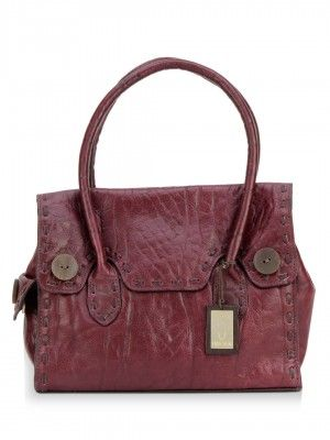 Hidesign Handbag With Wood Finish Button Trims from koovs