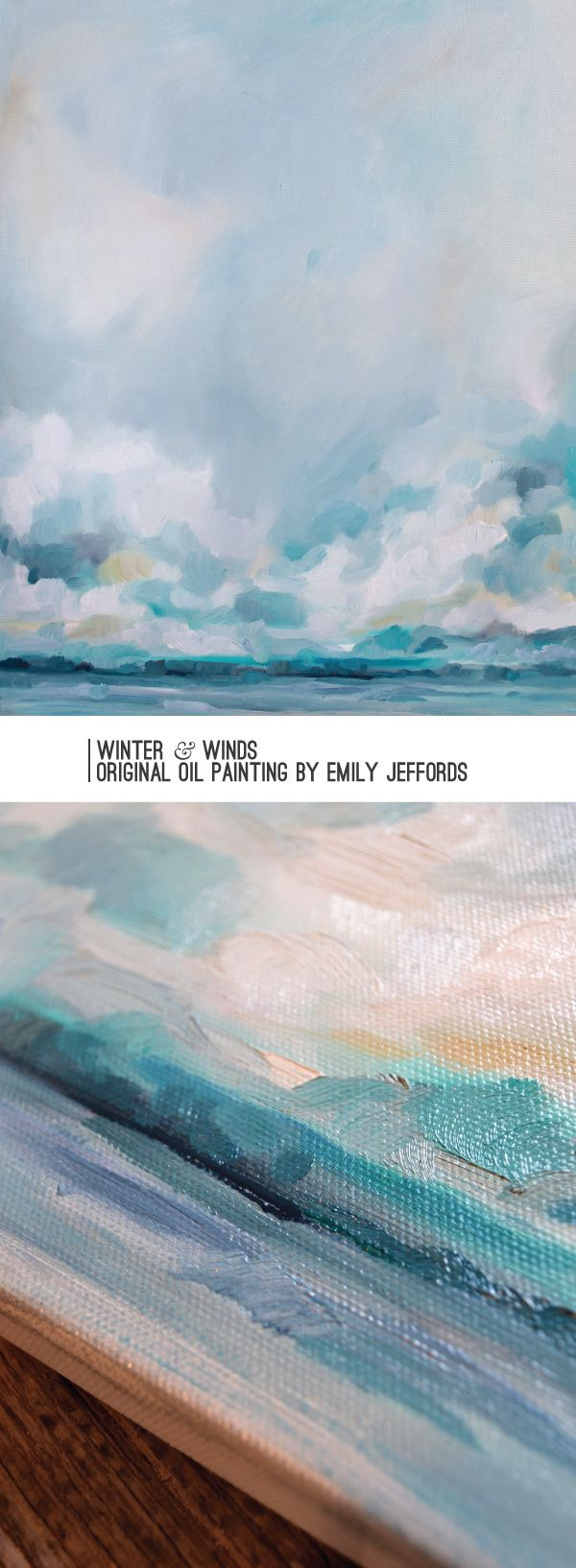 Winter & Winds: Original Oil Painting by Emily Jeffords, painting-a-day