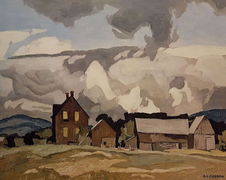 """Limited Edition A. J. Casson Lithograph """"Madawaska Valley"""": Amazon.ca: Home & Kitchen"""