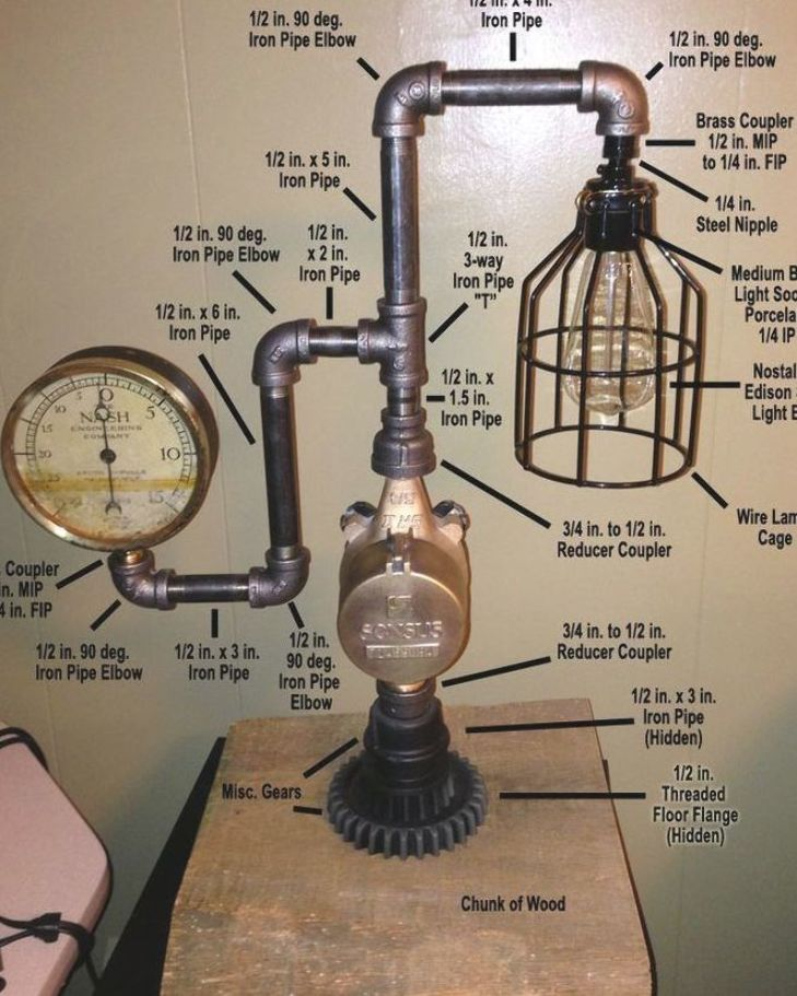 Pin On Pipe Lamp