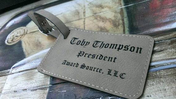 Groomsmen Gift  Leather Luggage Tag  Free by weddingpartygifts