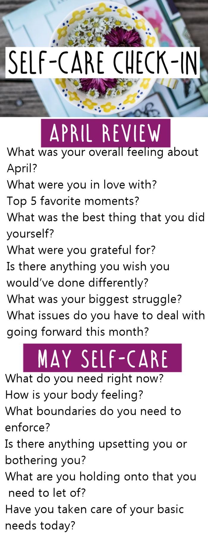 Happy May! I don't know about you, but going into this month I feel relief. The sun is shining, warmer days are ahead, and I can't wait for it. We've been talking about self-care in the SoulSisterhood (join us) and what a hard month April was and how we can do better going forward. That'sRead More »