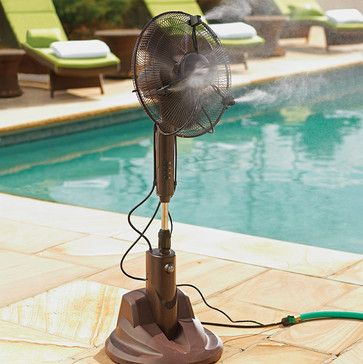 Portable Dry Misting Outdoor Fan traditional-fans