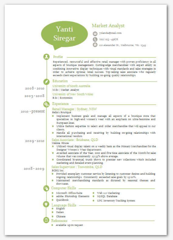 modern microsoft word resume template yanti siregar by