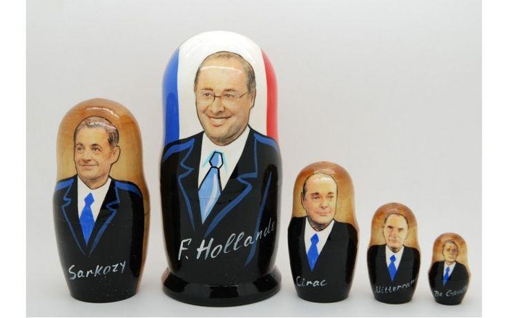Matryoshka nesting doll French politicians from ArtMatryoshka by DaWanda.com