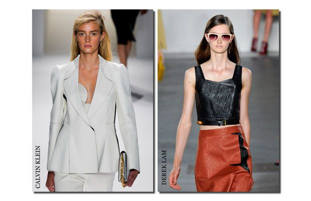 Calvin Klein ile Derek Lam yandan saç ayrımını tercih eden markalar arasında...
