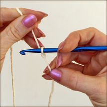 Tightening a Loose Slip Knot for Crochet - Tightening a Loose Slip Knot for Crochet -- Photo Copyright Amy Solovay