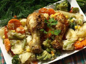 pałki z warzywami na parze